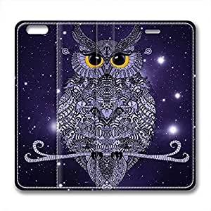 New Design and Good Quality Case,PU Leather Magnet Shell Stand Case Cover for iphone 6 plus with Night Owl