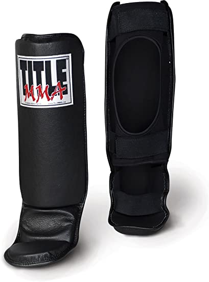 Title MMA Vinyl Shin Instep Guards-Child