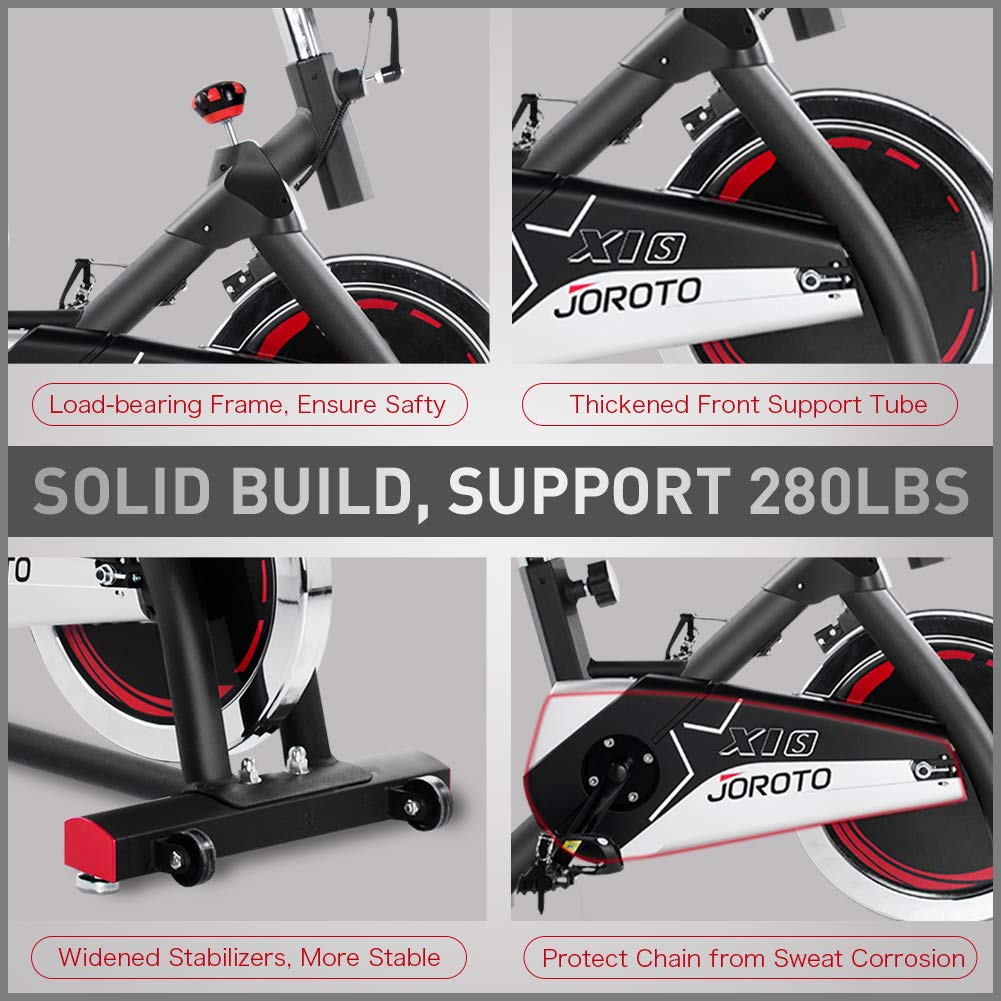 JOROTO Indoor Cycling Bike Trainer – Professional Exercise Bike Stationary Bike for Home Cardio Gym Workout