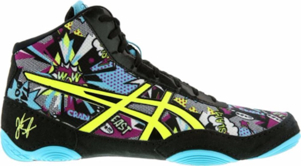 ASICS Men's JB Elite V2.0 Wrestling Shoe, Comic/Flash Yellow/Blue Alt, Size 10.5