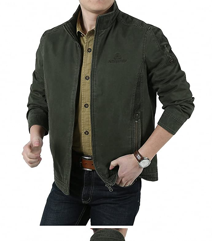 Amazon.com: Winter Jacket Men Army Military Jackets Mandarin Collar Pure Cotton Mens Jackets And Coats Plus Size M-4XL Homme: Clothing