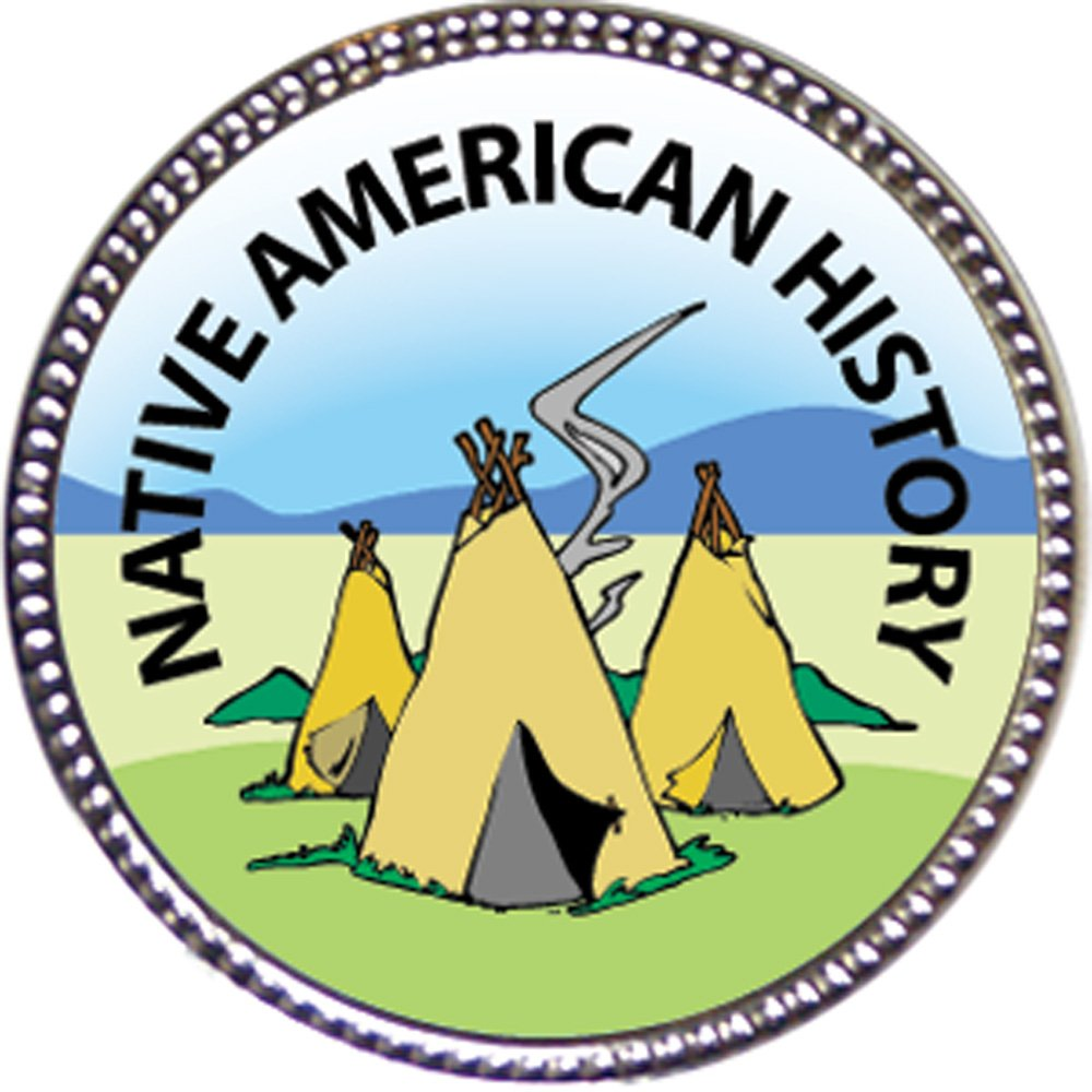 Native American History Award, 1 inch dia Silver Pin Scholarship Studies Collection by Keepsake Awards