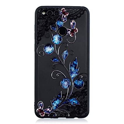 new style a9a5a e31d4 Amazon.com: Abtory Huawei Honor 7S Case for Girls, [Full-Body 360 ...