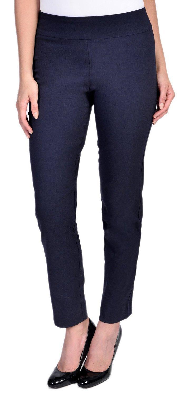 KrazyラリーレディースPull On Ankle Pants B00AEYZRB4 10|ネイビー ネイビー 10