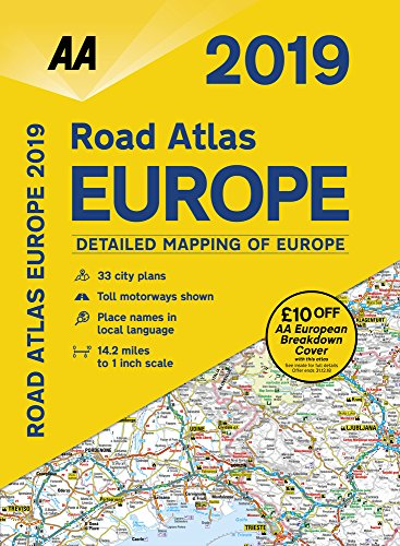 2019 Road Atlas Europe 2019 (AA Road Atlas Europe) (Aa Road Map)