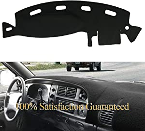 Yiz Dashboard Cover Dash Cover Mat Pad Custom Fit for Dodge Ram 1500 2500 3500 1998 1999 2000 2001 (Ram 98-01, Black)