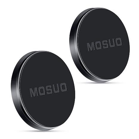 MOSUO 2 Pack Soporte Movil Coche Magnético, Universal Iman para movil Coche para Salpicadero/