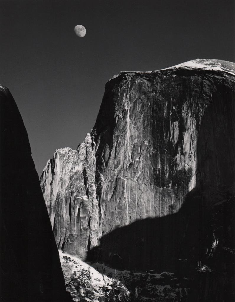 Moon and Half Dome, Yosemite National Park