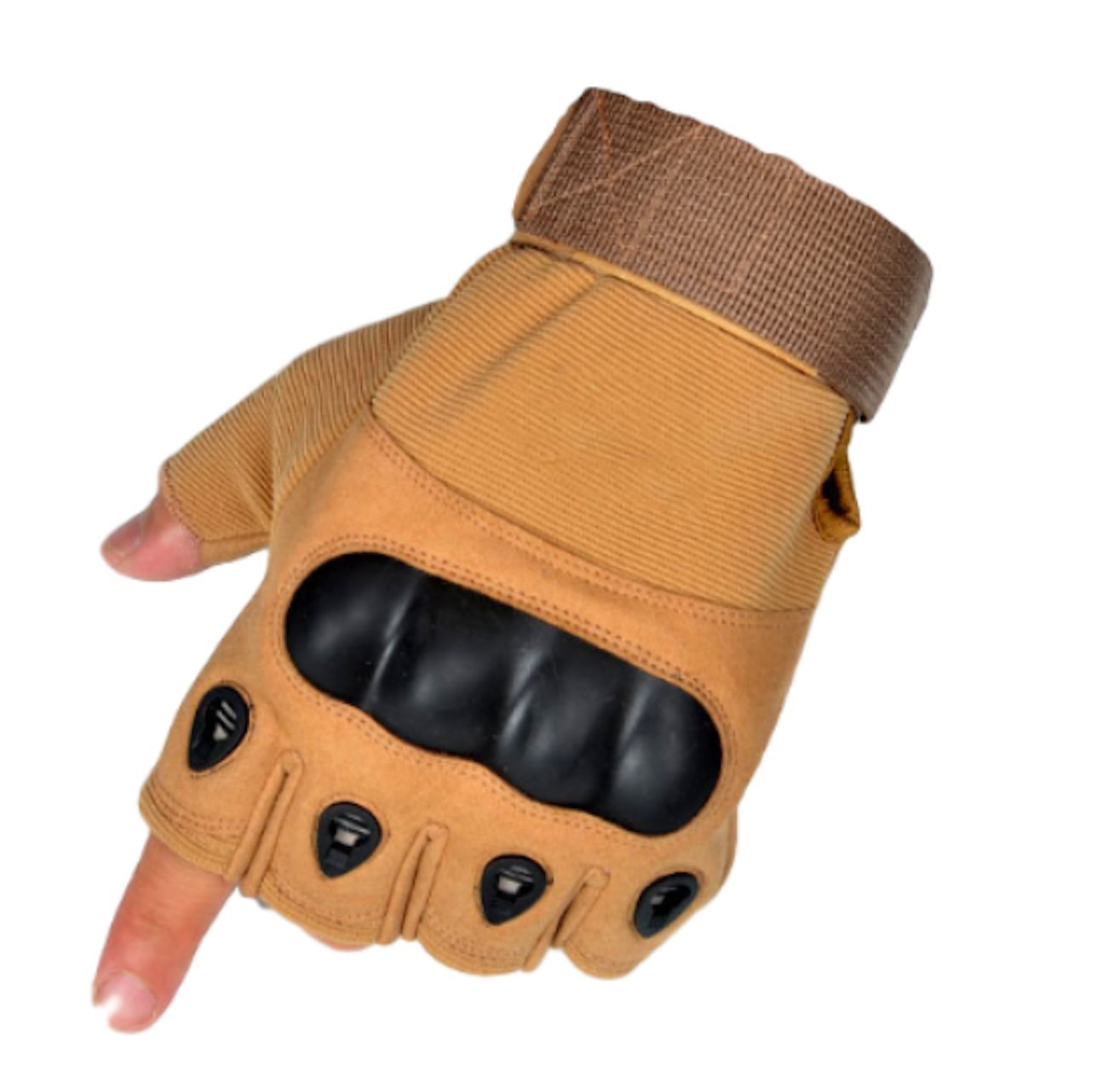 Moon Market Tactical Military Knuckle Half Finger Gloves for Motorcycle Army Combat