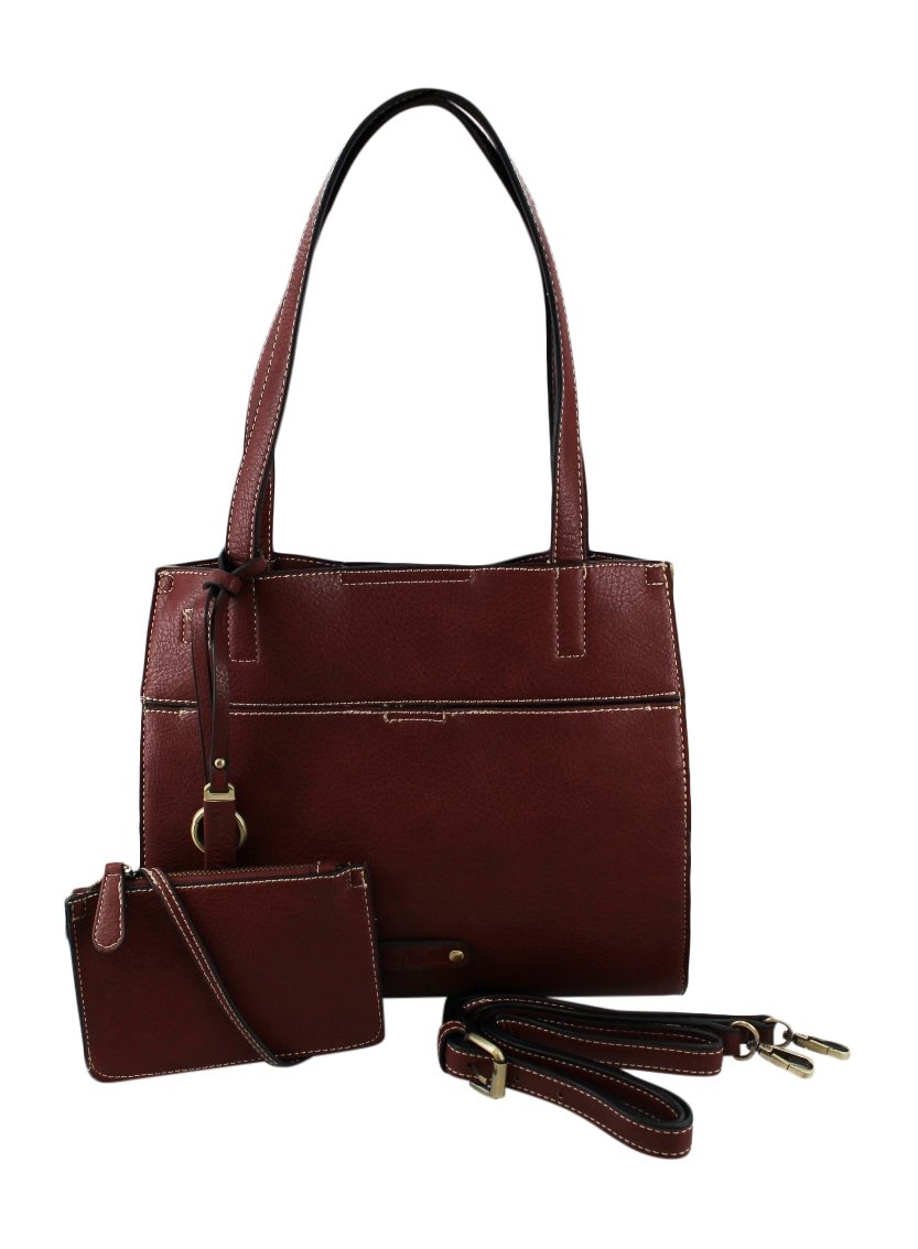 Simply Noelle 5th Avenue Satchel (Burgundy)