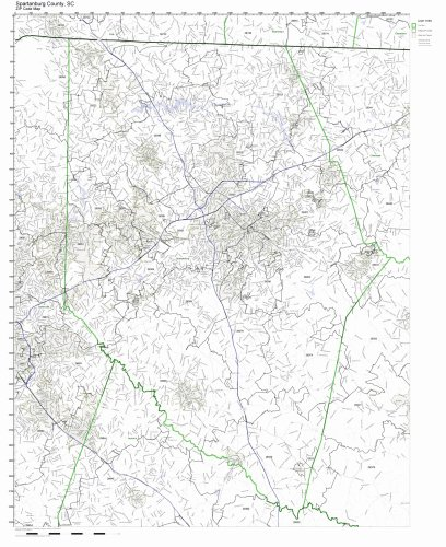 Spartanburg County, South Carolina SC ZIP Code Map Not -