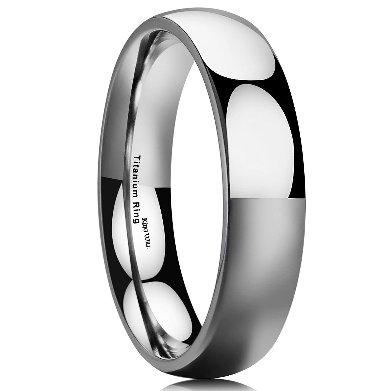King Will Basic 3MM Titanium Ring Brushed//Matte Comfort Fit Wedding Band for Men Women