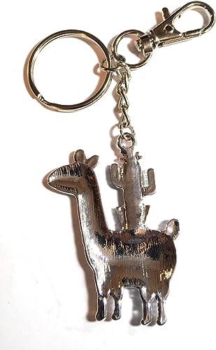 FizzyButton Gifts /émail Alpaca Llama avec Porte-clefs Charme Sac /à Main de Cactus