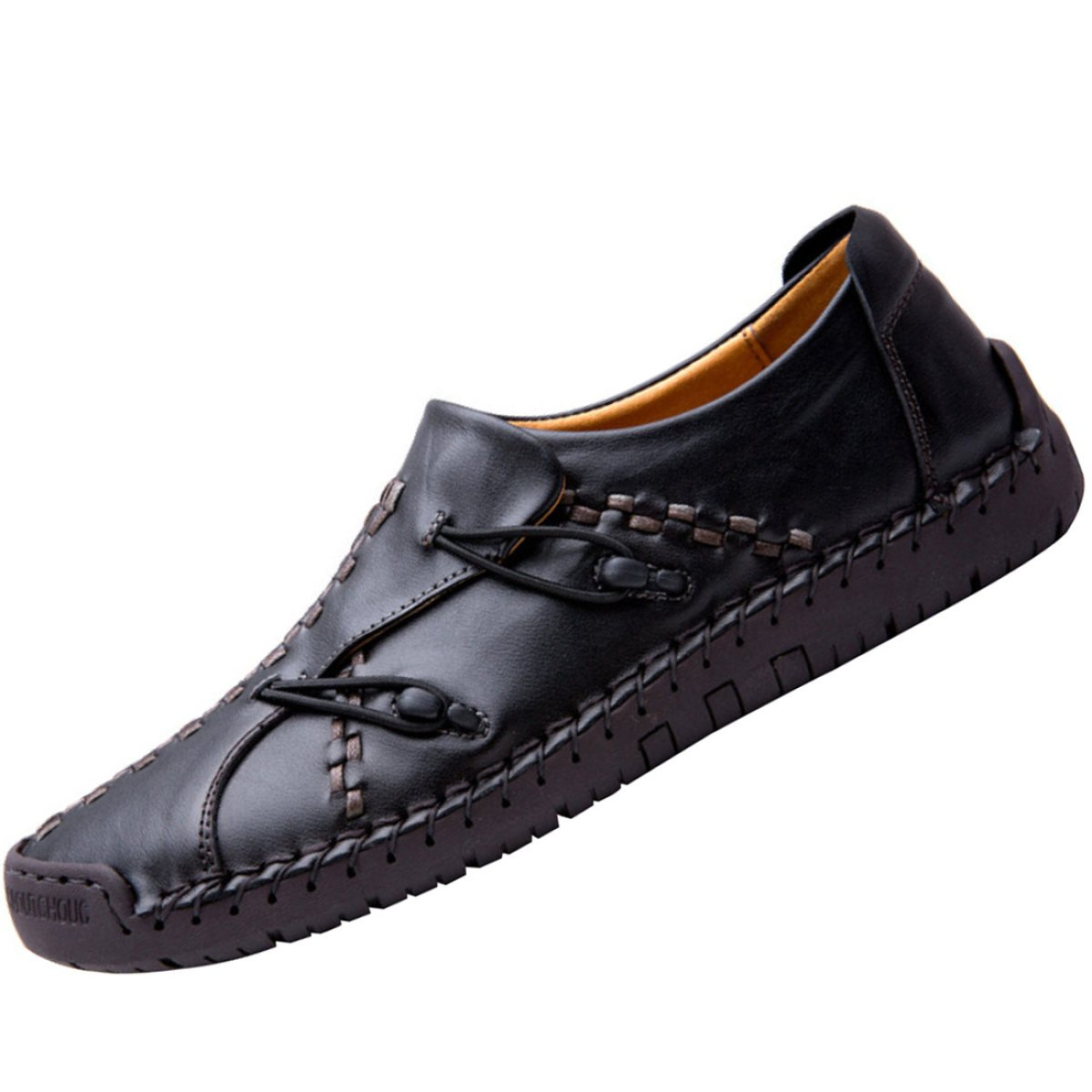 MYXUA Herren Leder Mode Handgefertigte Leder Nähte Schuhe Wild Bequeme Schuhe