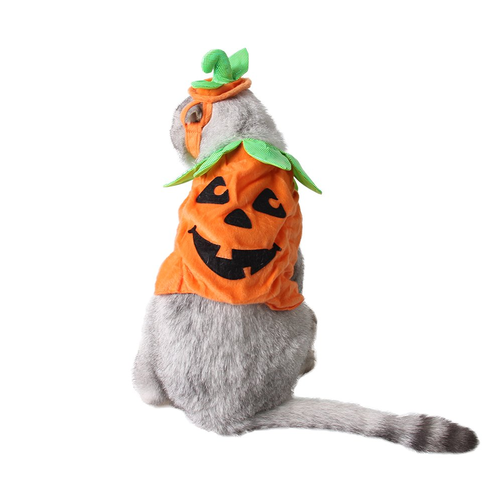 ABLAZE ZA I Pet Pumpkin Clothes Cosplay Costumes With Ears Hole For Small Cat And Dog