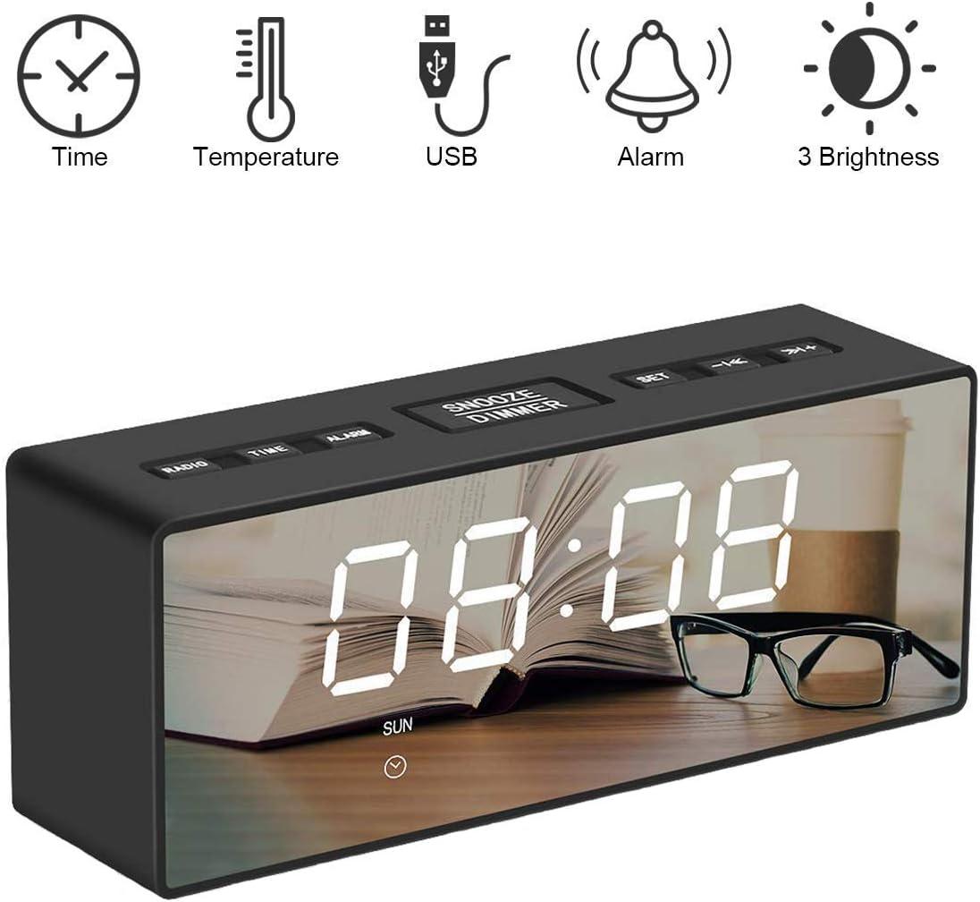 SUNSEATON Reloj Despertador Digital, Portátil Reloj Despertador ...
