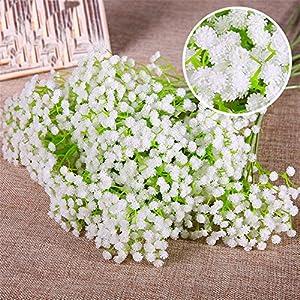 Sokey White Artificial Baby Breath Gypsophila Flower Bridal bouquet Wedding Home Decor 79