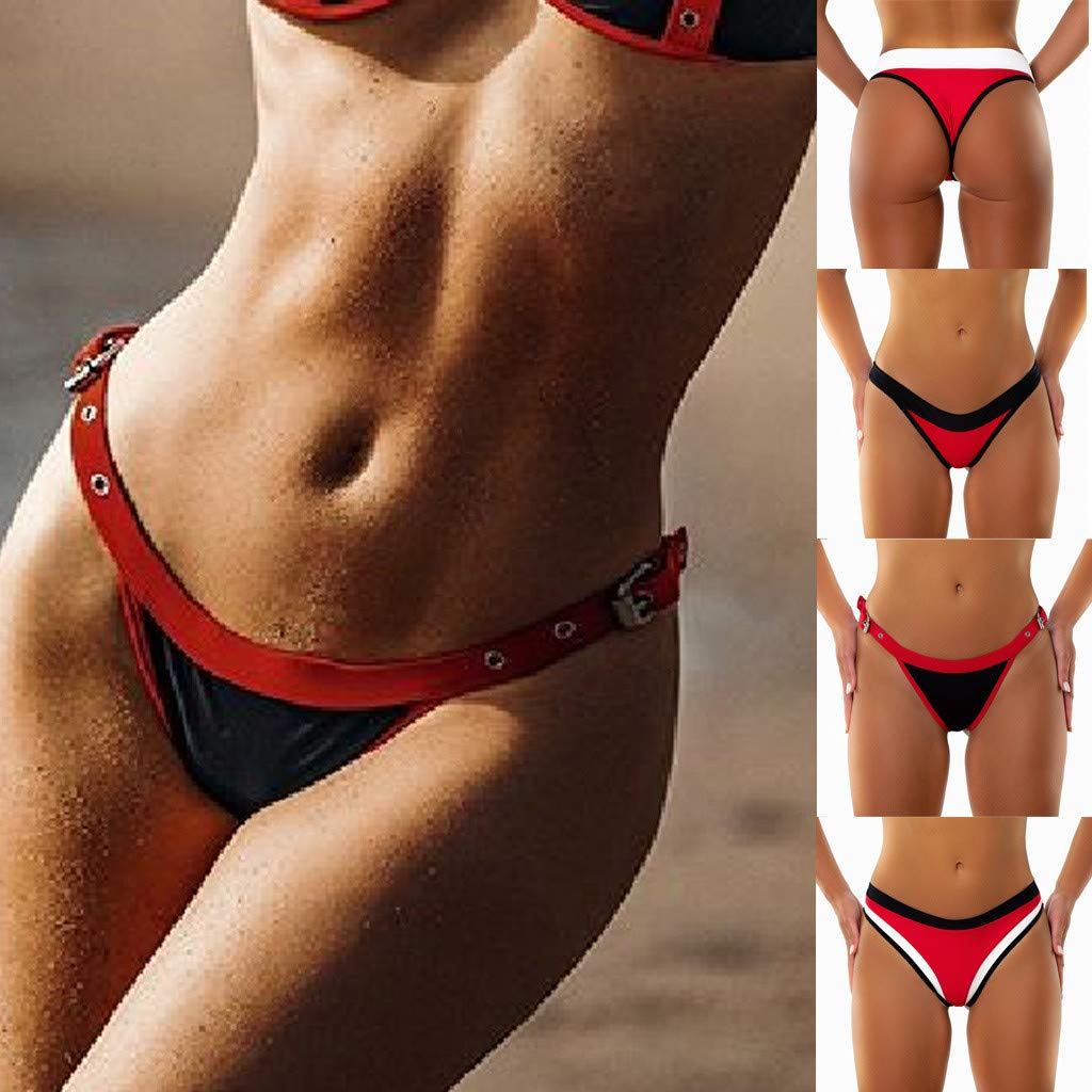 Sannysis SANNYSISWomen Briefs Panties Underwear Knickers Bikini Underpants Swimming TrunksRed