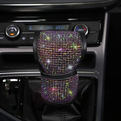 Bling Bling Auto Shift Gear Cover, Luster Crystal Car Knob Gear Stick Protector Diamond Car Decor Accessories for Women(car gear shift cover): Automotive