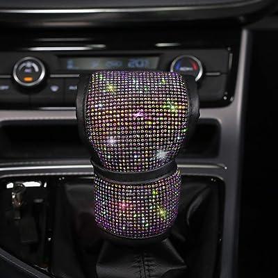 QINU 2 Pcs Bling Bling Seat Belt Shoulder Pads Luster Crystal Car Seatbelt Covers Auto Car Decoration Accessories for Women