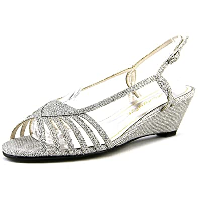 Caparros Women's Tango Dress Sandal, Light Silver Sparkle - 5 B(M) US