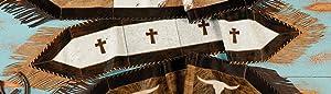 BLACK FOREST DECOR Cross Cowhide Table Runner