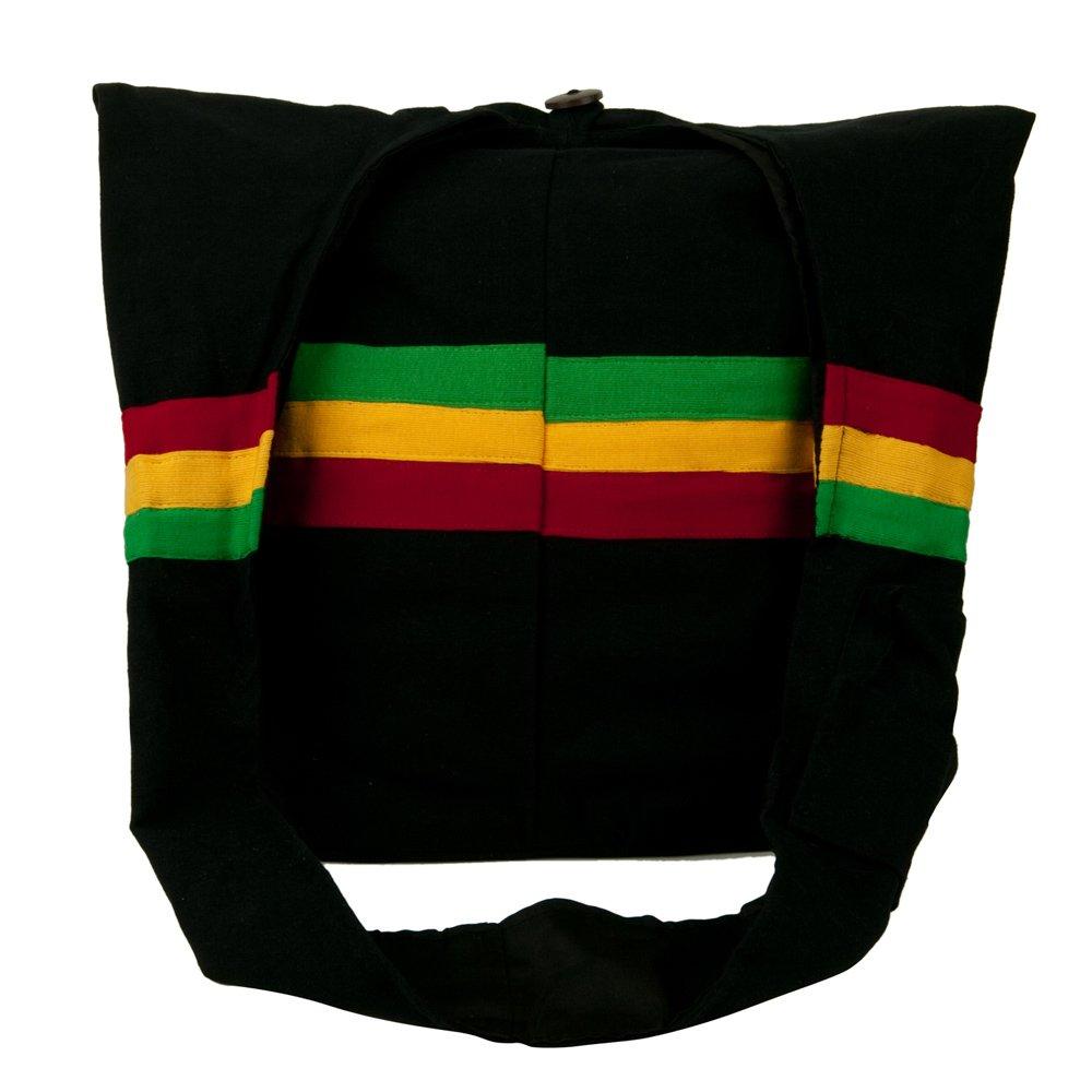 Rasta Cotton Vertical RGY Messenger Bag Black W04S55D