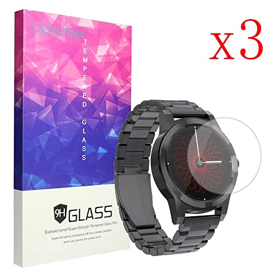 for Diggro DI03 Plus Screen Protector, Lamshaw 9H Tempered Glass Screen Protector for Diggro DI03 Plus Smartwatch (3 Pack)