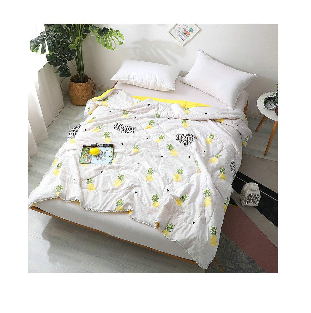 Bear, Multi, Twin 60x80 KFZ Fruit Cartoon Printed Quilt Comforter Cotton Bedspread for Bedding Set Breathable Ultrasound Quilted Quilt CA1903 Twin Full Queen for Adults Kids Baby 1pc