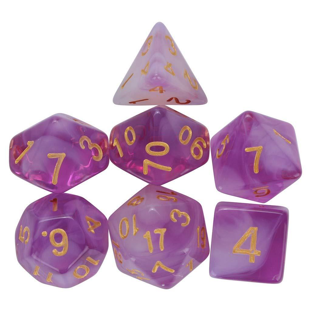 Ecosin Fashion Dice Set Game Essential (Purple)