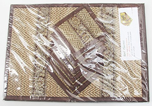 CLASSIC ONE 6 x THAI Sensational Reed Placemat + 6 coasters by Thaiwallmart
