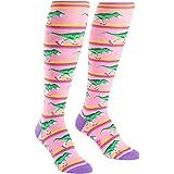 Sock It To Me, Knee High Funky Socks: Dinosaur
