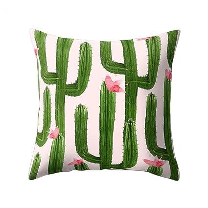 Cushions Home, Furniture & DIY Cactus Print Pillow Case Sofa Bed Chair Waist Throw Cushion Cover Home Decor 18