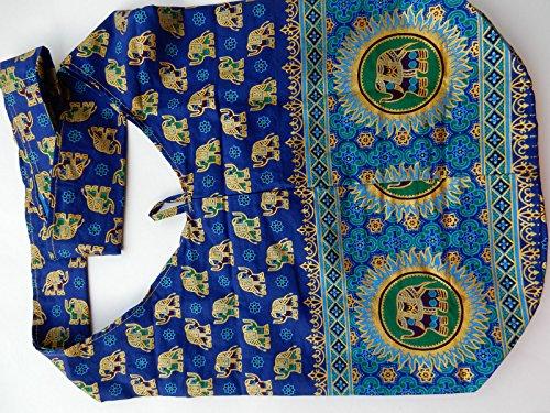 Ariyas Thaishop, Borsa a tracolla donna blu blu Grande