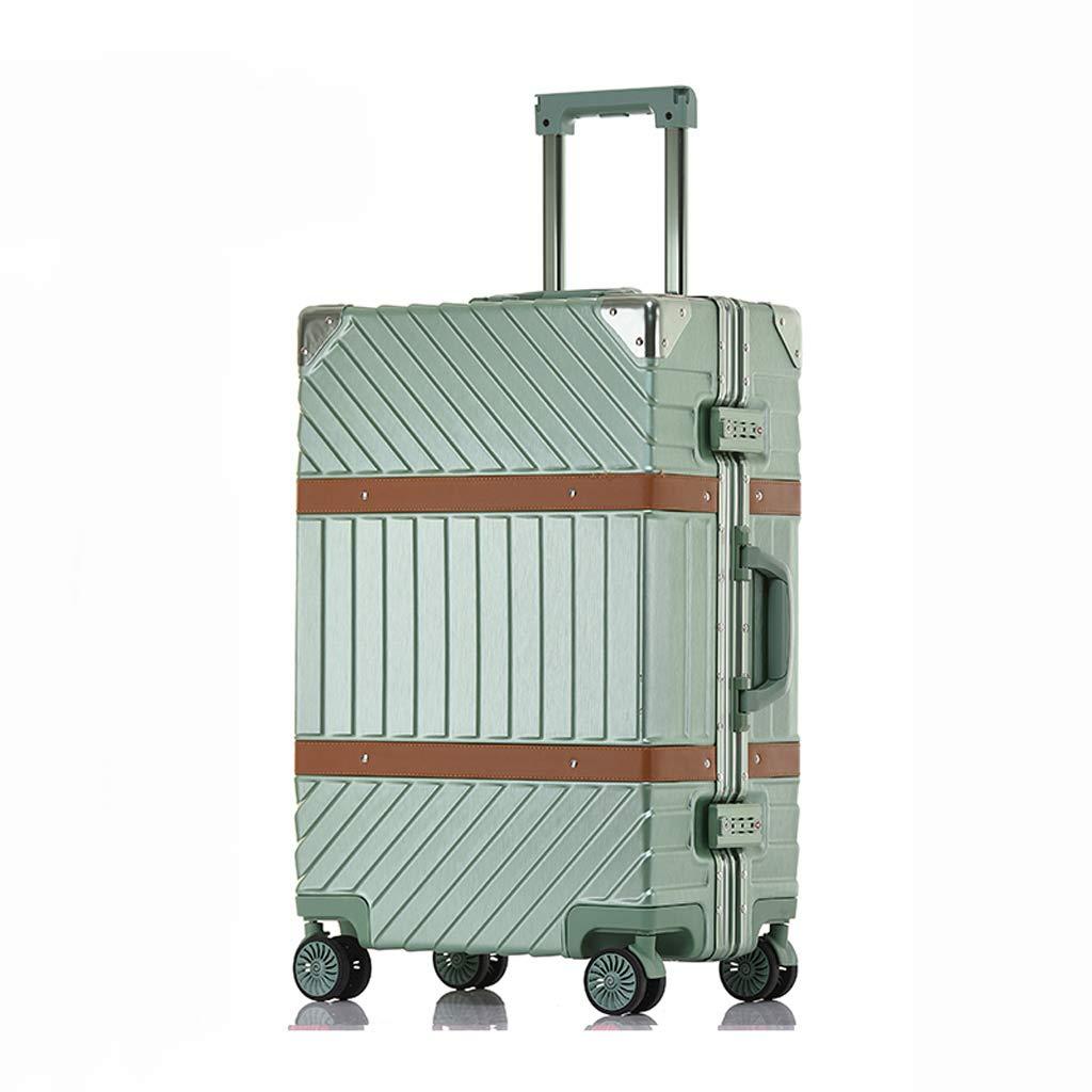 荷物用トロリーケース20インチ/ 24インチ/ 26インチ/ 28インチ学生用手荷物、トラベルバッグトロリースーツケース (色 : Green, サイズ さいず : 20inches) 20inches Green B07L6DJG8G