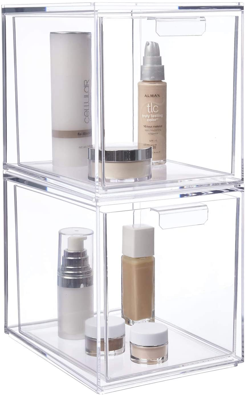 "STORi Audrey Stackable Cosmetic Organizer Drawers 6-3/4"" Tall 