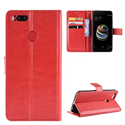 best website c76fc 7c6a8 Amazon.com: Promama Xiaomi Mi 5X Mi A1 Wallet Case, [Folio Style ...