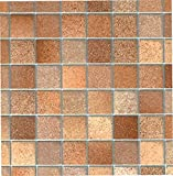 Fablon FAB11706 Tile Effect Brown Adhesive Film For Sale