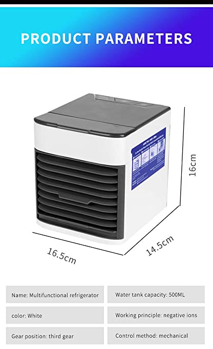 Miaogo Personal Evaporative Air Cooler and Humidifier/Portable Air  Conditioner 3in1,with 3 Speeds and 7 Colors LED Night Light for Office  Household
