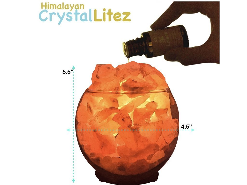 Himalayan CrystalLitez, Sphere Bowl, Himalayan Salt Lamp With Dimmer Switch,Aromatherapy Salt Lamp in A Gift Box,UPGRADED(Sphere Medium) by Himalayan CrystalLitez