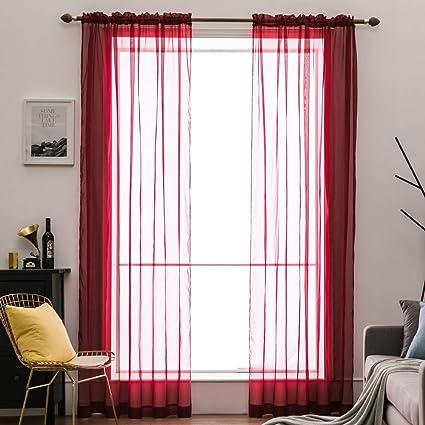elegant window treatments classy miulee panels christmas solid color sheer window curtains elegant voile panelsdrapes amazoncom
