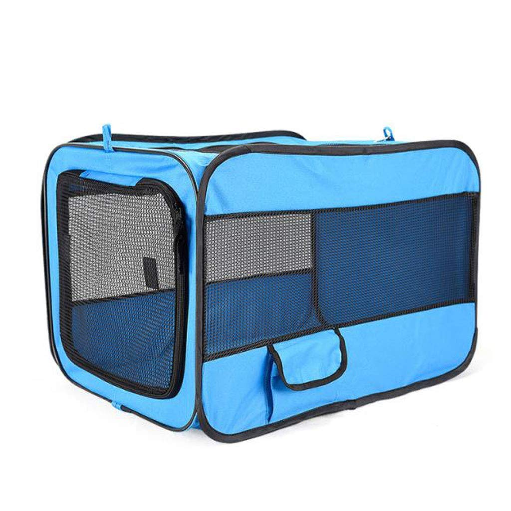 M bluee M bluee KYCD Pet Bed Portable Pet Bag Folding Fabric Pet Cage Pet Car Seat Lightweight Fabric Pet Carrier Crate (color   bluee, Size   M)