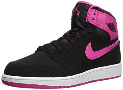 separation shoes 1b6d8 82c2f Nike Damen Air Jordan 1 Retro High GG Laufschuhe, Pink (Schwarz Vivid Rosa