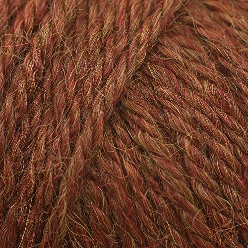 King Cole 100% Pure Baby Alpaca Yarn Soft Double Knitting DK Wool 50g Ball (Rust - 697) ()
