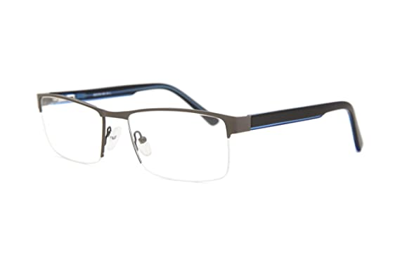 65c2990550 SmartBuy Collection Abbott Men s Prescription Eyeglass Frames - Semi Rimless  Rectangular Designer Glasses Frame - Abbott