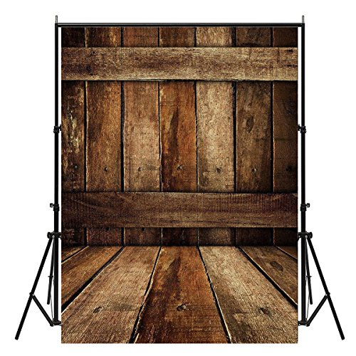 Showyou 5x7ft Vintage Wooden Floor Photography Backdrops Silk Photography Background Studio Props