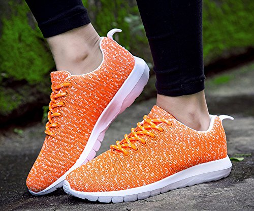 Hardloopschoen Voor Dames En Heren Lichtgewicht Outdoor-sneaker Voor Buitenmode Van Jiye Orange