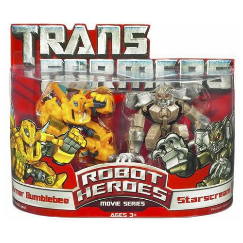 Transformers: Robot Heroes > Armor Bumblebee And Starscream Action Figure Multipack
