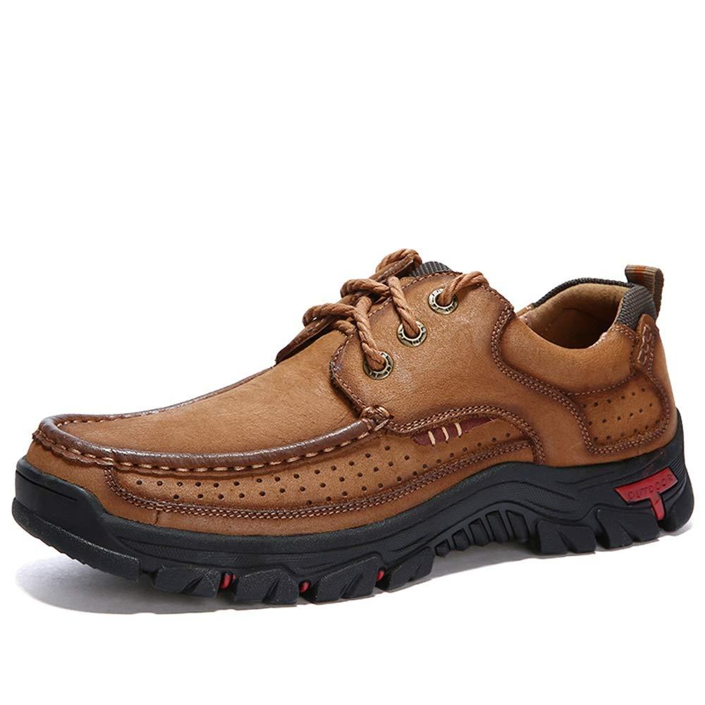 GLSHI Mode Hommes Oxford Cursory Confortable Bas-Haut Classique Style Britannique Rung Toe Chaussures d'escalade en Plein Air Light marron 40 EU