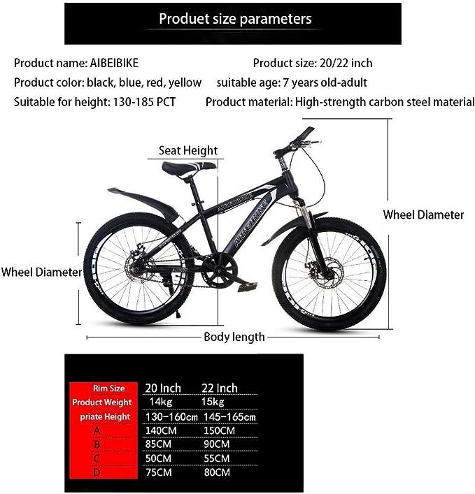 XHCP Bicicleta de montaña para Adultos, Bicicleta de montaña para ...